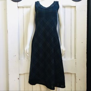Neesh by D.A.R. Plaid Midi Dress